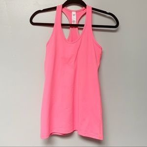 Ivivva by Lululemon hot pink workout tank top girl